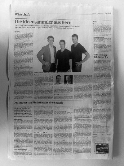 «Die Ideensammler aus Bern», Bund 09.02.2010